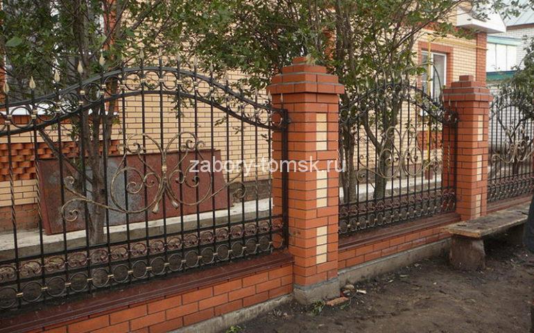 строительство заборов с ковкой в Томске