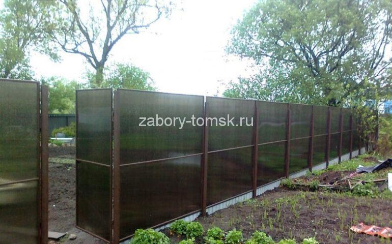 изготовление заборов из поликарбоната в Томске