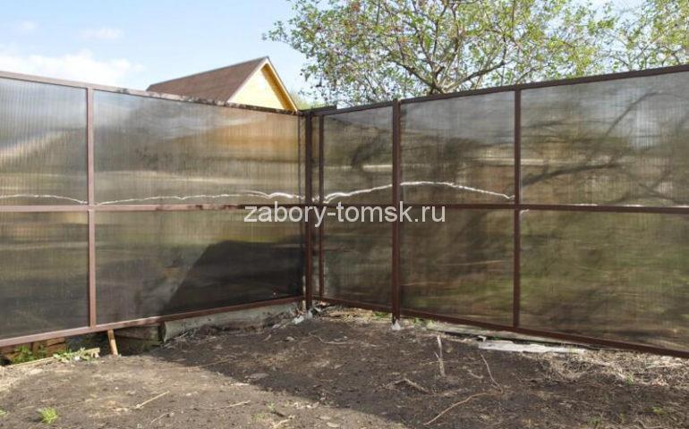 забор из поликарбоната в Томске