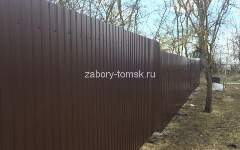 забор из профлиста в Томске